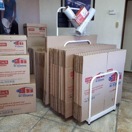cajas dobladas